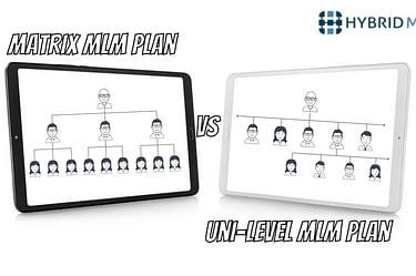 Matrix plan | Uni-level plan | Hybrid MLM Sofware