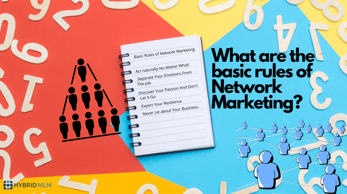 Basic rules of network marketing